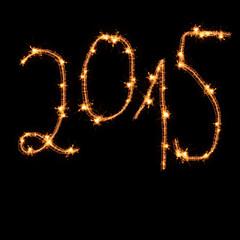 Sparkler 2015 - isolated on black