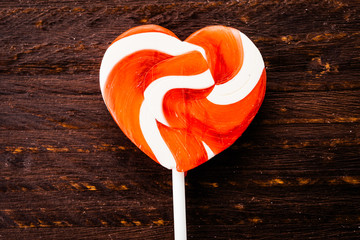 Heart lollipop candy