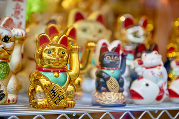 Traditional Japanese waving cats