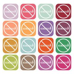 No smoke icon. Stop smoking symbol. Vector.