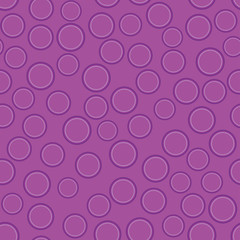 Abstract violet circles on purple seamless background, vector
