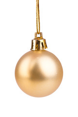 Beautiful gold Christmas toy