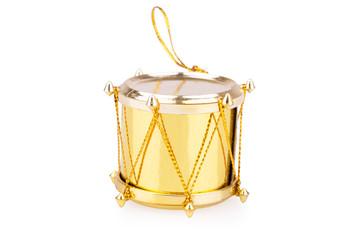 golden toy drum