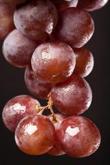 wet bunch red grape