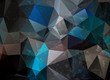 dark grunge origami triangle abstract geometric stained-glass