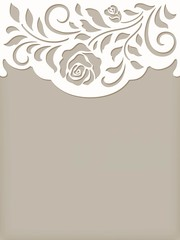 invitation cute card with rose