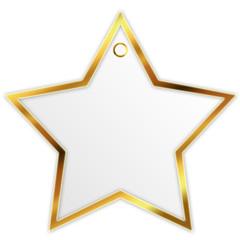Stern mit Goldrand und Öse