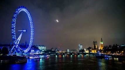 time-lapse of a London cityscape at dusk