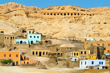 Egypt, Nile Valley, Luxor area, Thebes