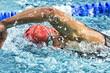canvas print picture - Kraulschwimmer