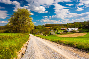 Farm along a dirt road in rural York County, Pennsylvania.
