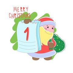 Santa Claus or Christmas Vector illustration