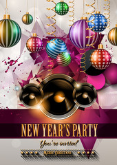 2015 New Year's Party Flyer design for nigh clubs