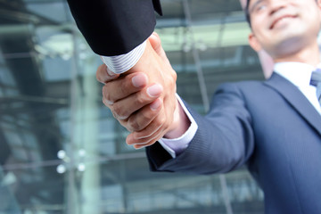 Handshake of businessmen - successful & partnership concept