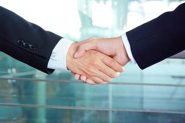Handshake of businessmen - successful & partnership concepts