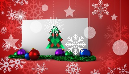 Composite image of hipster christmas tree