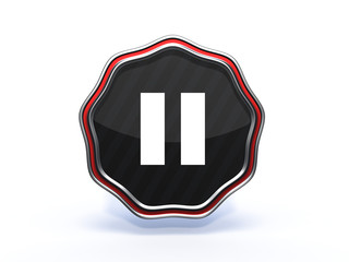 pause star icon on white background