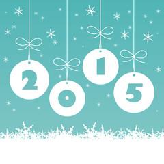 """CARTE """"2015"""" (bonne année 2015 joyeuses fêtes)"""