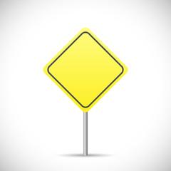 Blank Yellow Sign Illustration