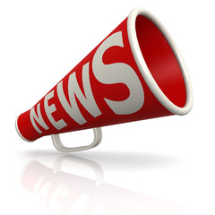 Red news megaphone