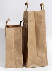 Two paper bags.