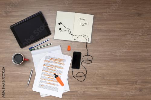 Leinwandbild Motiv Study Background