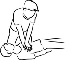 helping a man by cpr