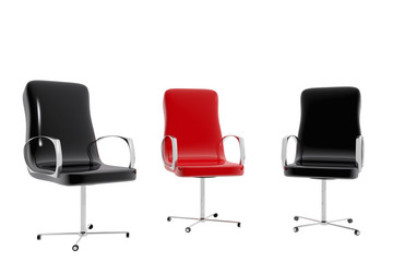 Office chairs.  job interview concept