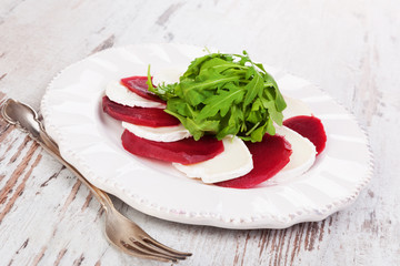 Beet with goat cheese.