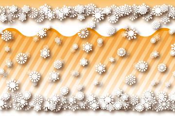 背景素材壁紙,積雪と雪の結晶,降雪,冬,スノー,ウィンター,ウインター,,氷,立体,3D,3次元,遠近法,縞,縞模様,ストライプ