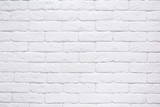 Fototapety White brick wall background