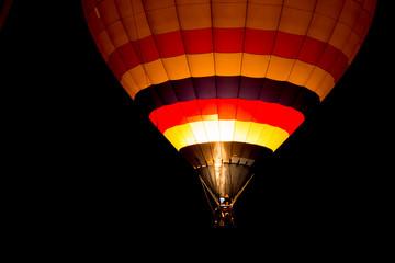 Air balloon at night