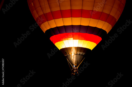 Fotobehang Ballon Air balloon at night