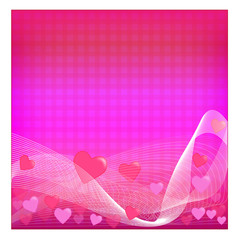 Abstract heart background - Illustration