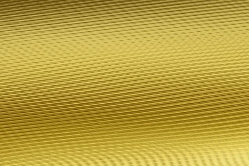 Golden wavy ribbed 3D material texture