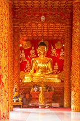 Buddha statue at temple Phra That Lampang Luang, Thailand