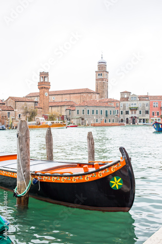 Fotobehang Gondolas Venetian scenery