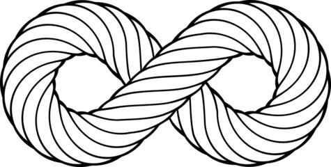 Nodo infinito in corda