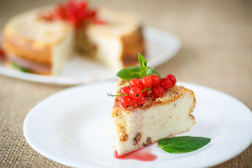 sweet curd pudding with berries