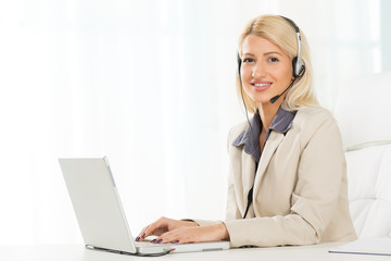 Young Blonde Call Operator