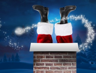 Composite image of santa claus boots