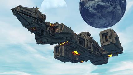 3d Futuristic UFO concept
