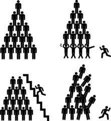 Pyramides humaines