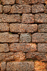 Bricks on the wall of the ancient Aguada Fort