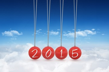 Composite image of 2015 newtons cradle