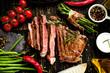 Leinwandbild Motiv steak
