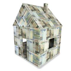 Haus aus 50 Rubel Scheinen