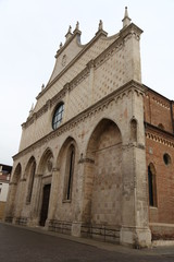 Basilica's gothic facade of the Cathedral in the city of Vicenza