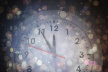 Composite image of white clock