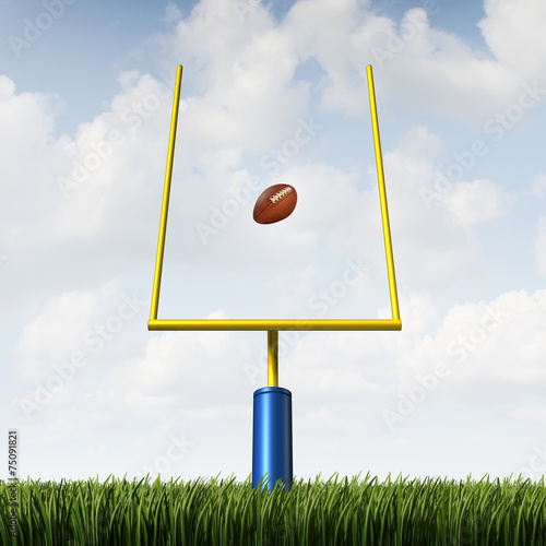 canvas print picture American Football Goal